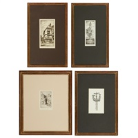old house; chinon; dorothy & john taylor arms, christmas 1924; a breton calvary (4 works) by john taylor arms