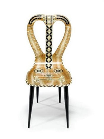 Lyre Back Chair By Piero Fornasetti