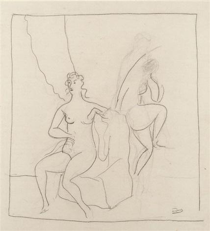 deux nus dans un intérieur by andré derain