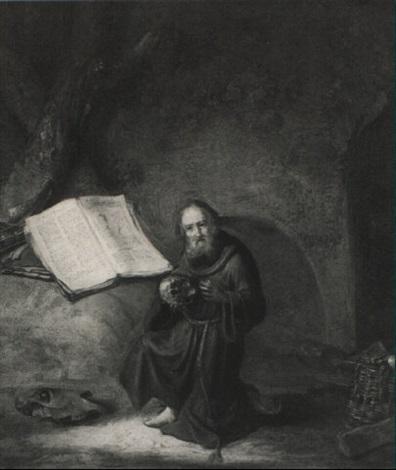 pentient monastic saint by jacob van spreeuwen