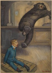 mr. bear jumped ten feet (bk illus. for mr. munchausen, an account of some of his recent adventures) by peter newell
