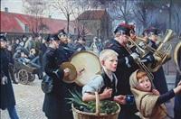vagtparade (after erik henningsen) by alexander akopov