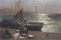 sorting fish, pittenweem by alexander young