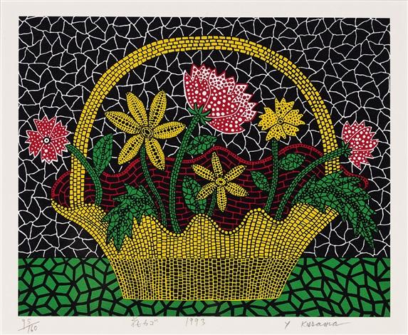 flower basket 花カゴ by yayoi kusama