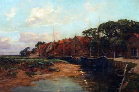 blakeney quay by joseph langsdale pickering