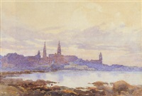 dun laoghaire from sandycove by gladys wynne