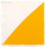colored paper images xvi (yellow curve) (from colored paper images) by ellsworth kelly