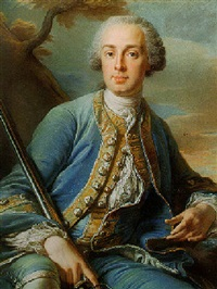 portrait of a gentleman (armand guillaume françois de gourgues, marquis of vayres and d'aulnay?) by jean valade