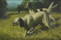 pair of hunting dogs by alexander pope