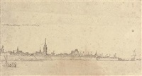 a view of vlissingen by abraham de verwer
