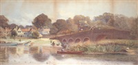 the thames at sonning, berkshire by walter h. goldsmith