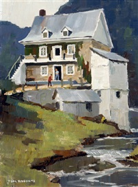 stone mill, baie st. paul by keith roberts