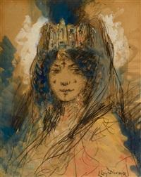 femme du maghreb parée de bijoux by lucien lévy-dhurmer
