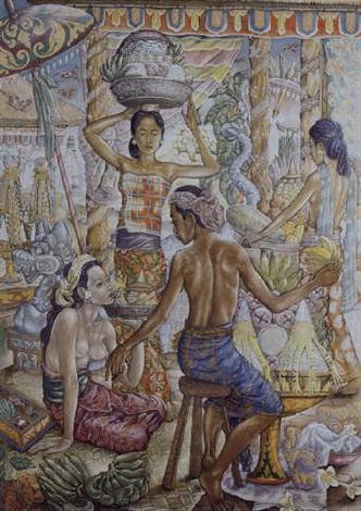 preparing the odalen by anak agung gede sobrat