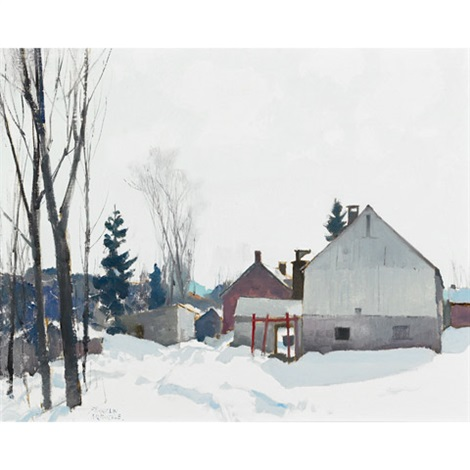 canadian farm in winter by george franklin arbuckle