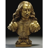 bust of a governor-general of the spanish netherlands (archduke leopold wilhelm of austria?) by dutch school-southern (17)
