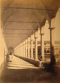 il chiostro della certosa (+ palazzo dei cesari; 2 works) by tommaso cuccioni