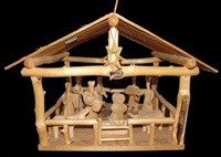 nativity scene (in 13 parts) by gloria lópez córdova
