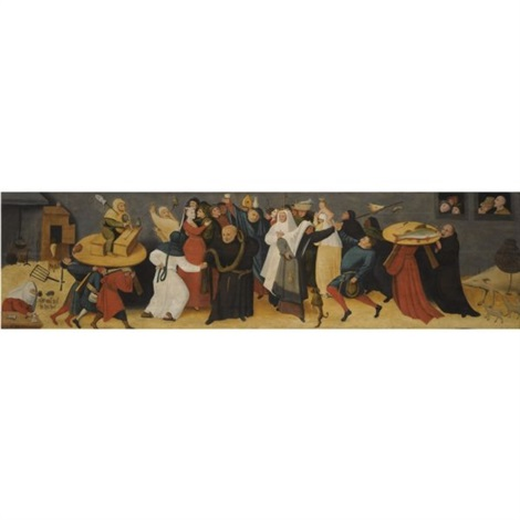 the battle between carnival and lent by hieronymus bosch