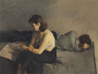 solitaire by raphael soyer