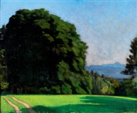 nagybánya landscape with a road by andrás mikola