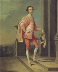 portrait of giles bridges, duke of chandos by edward alcock