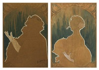 silhouettes d'élégantes by henri privat-livemont