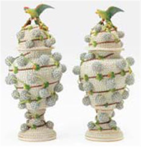 Snowball Vases With Lids Pair By Meissen On Artnet