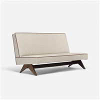 sofa from the high court, chandigarh by pierre jeanneret