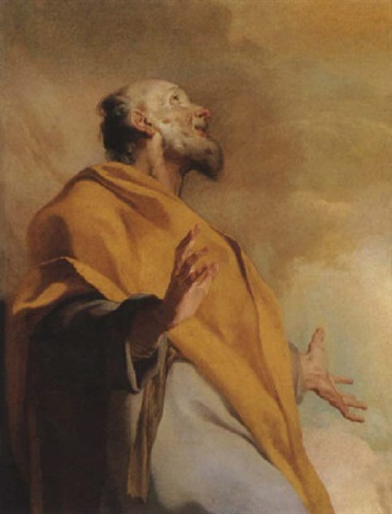 a male saint or prophet saint peter by giuseppe antonio petrini