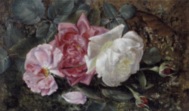 rosen am waldboden by irma komlósy