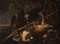 trophée de chasse au lièvre by david de coninck