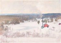 vinter view from outokumpu by pekka halonen