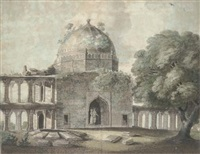 part of the great mosque at juanpore by john warley