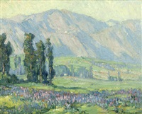 mount lowe and lupines by benjamin chambers brown