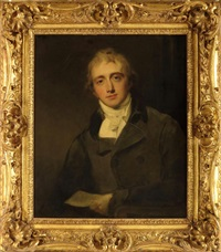 portrait of robert banks jenkinson, 2nd earl of liverpool, kg, mp (1770-1828) prime minister by thomas lawrence