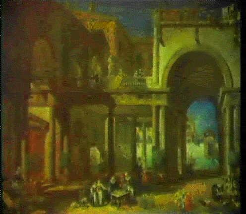 Veduta dellinterno di un convento di monache by antonio for Interno a un convento
