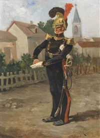 the village guard by eugène cottin
