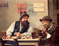 fumeurs dans une taverne à vicoigne by alexandre félix leleu