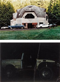 i) geodesic dome house; ii) off road (2 works) by oscar tuazon