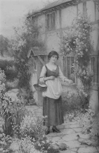in the cottage garden by william affleck