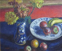 still life of fruit and flowers by archibald ziegler
