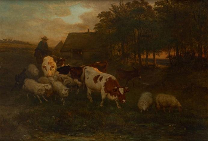 retour du bétail by henriette ronner knip