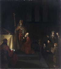 the presentation in the temple by abraham van dyck