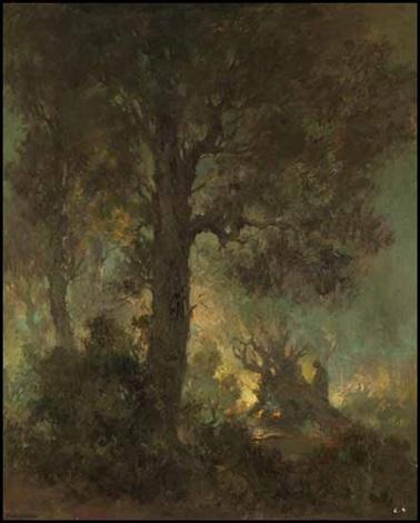 evening bonfire by carl henry von ahrens