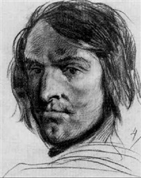 a self-portrait of the artist by clément-auguste andrieux