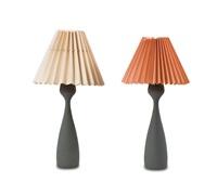 zwei tischleuchten e 1193 (pair) by asea belysning