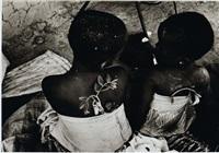 deux petites filles de dos by youssouf sogodogo