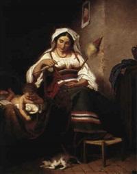 spinnande italienska by amalia lindegren