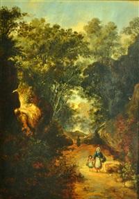 paisaje boscoso by antonio fontanesi